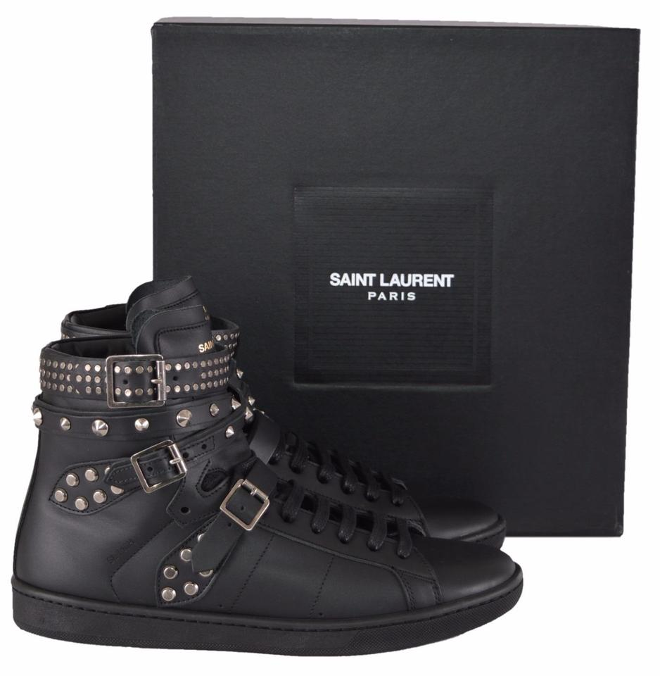 Retail Yves Laurent High RegularmB53Off Studded Women's Sneakers Classic Top Size 5 Court 6 Black Us Saint 9b2YEDWeIH