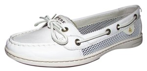 Sperry Leather Angelfish White Flats
