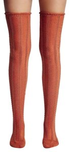 Free People FREE PEOPLE Ribbed Socks Tall Stretchy Over the Knee Layering NEW