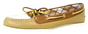 Sperry Leather Boat Two-tone Tan Flats