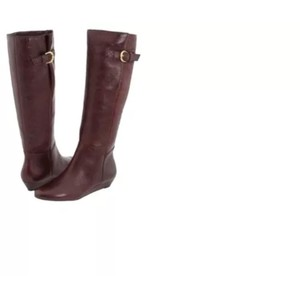 Steve Madden Wine Leather Boots