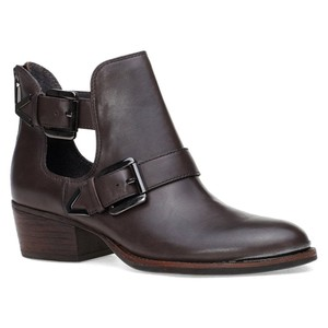 Elliott Lucca Synthetic Zipper Leather Grey Boots
