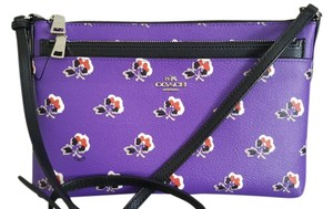 Coach Removable Pouch Floral Cross Body Bag