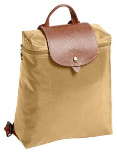 Longchamp Nylon Le Pliage Beige Backpack