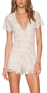 Alexis Lace Embroidered Mini V Neck Zip Back Classic Dress