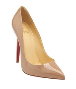 Christian Louboutin Patent Leather Loubs Beige Pumps