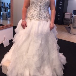 Drop Waist Ball Gown Wedding Dress