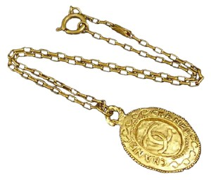 Chanel Chanel Coco Mark Charm Chain Link Necklace
