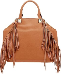 Rebecca Minkoff Tan Fringe Tote in Brown