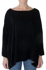 CP Shades Velvet Oversized Boxy Minimalistic Top Ink (Deep Navy Blue)