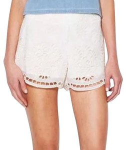 Dolce Vita Classy Dressy Embroidery Cutouts Bohemian Chic Wira Scalloped Dv Summer Spring Mini/Short Shorts Ivory