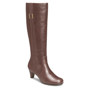 Aerosoles Riding Synthetic Shaft Brown Boots