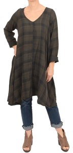 CP Shades Oversized Cotton Plaid Tunic