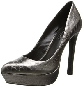 BCBGeneration Bg Sochi Metal Gray Gunmetal Pumps
