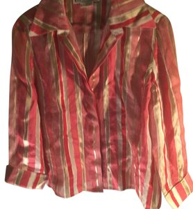 Carlisle Button Down Shirt Red gold