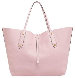Annabel Ingall Leather Classic Gold Hardware Tote in Rose Pink