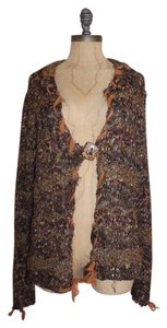 Ball of Cotton Marled Shaggy Eyelash Chiffon Cardigan