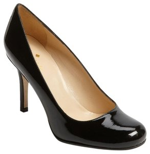 Kate Spade New York Karolina Patent Leather Round Toe Black Pumps