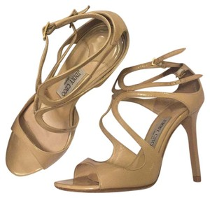 Jimmy Choo Nude Patent Leather Sandals