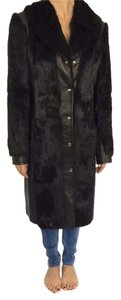 Hugo Boss Fur Leather Vintage Evening Fur Coat