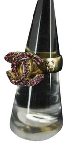 Chanel 12P CC Pink Crystal Ring 211849