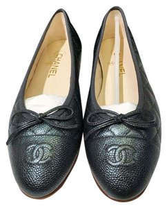 Chanel Bellet Grey Anthracite Flats