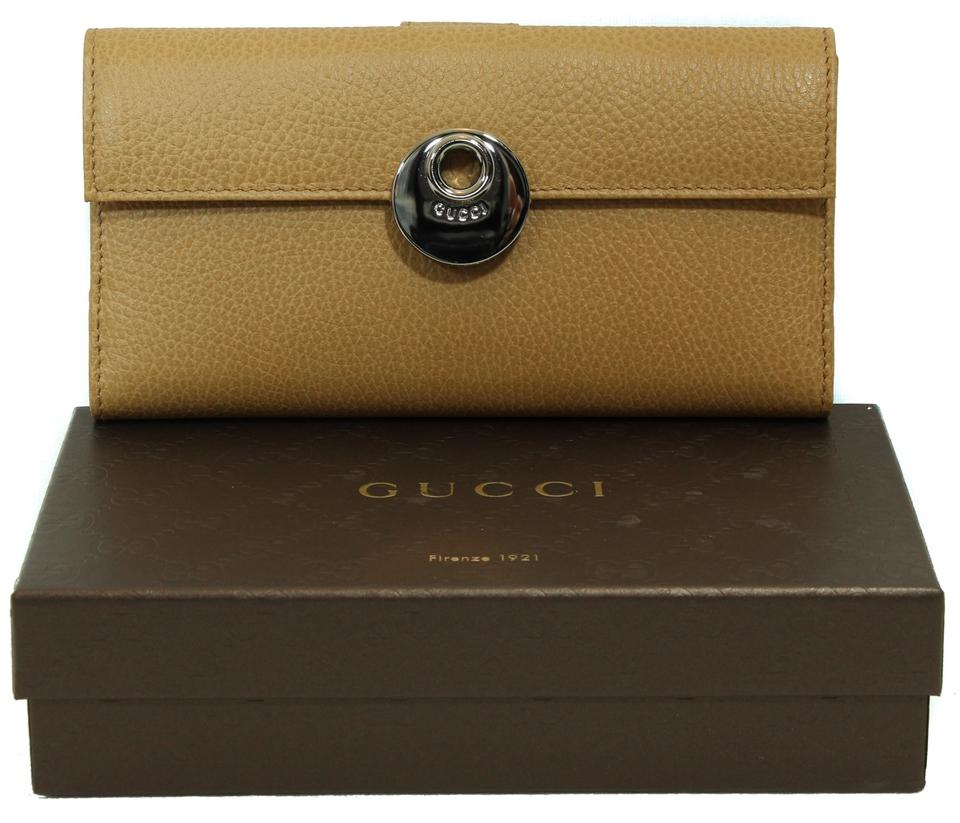 355c9e5b39ed Gucci Beige 231835 Leather Continental Whisky Wallet - Tradesy