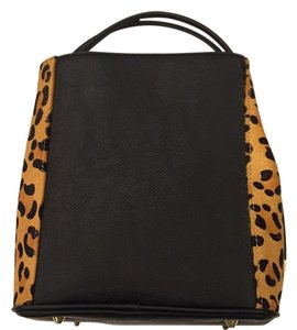 Samoe style Tote in Black and Leopard