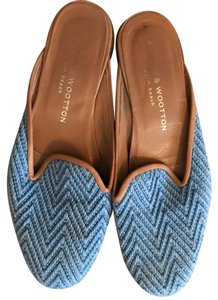 Stubbs & Wootton Mules & Blue Flats