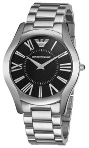 Emporio Armani Armani Men's AR2022 Classic Round Black Dial Stainless Steel Watch