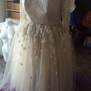 Champagne One Of A Kind Wedding Dress Wedding Dress
