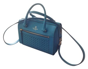 Kate Spade Blue Leather Satchel in Bright turquoise