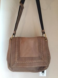 Bottega Veneta Vintage Hobo Leather Bohemian Classic Beige Messenger Bag