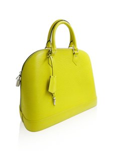 Louis Vuitton Alma Satchel in Yellow