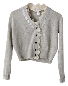 Marc Jacobs Ribbon Ruffles Polka Dot Cardigan