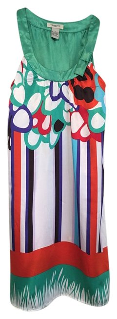 Item - Multicolor Sleeveless Bow Collar Bright Color Short Night Out Dress Size 2 (XS)