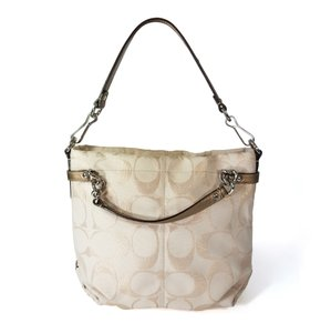 Coach Shoulder Metallic Leather Hobo Bag