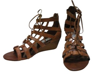 Steve Madden Leather Casual Cognac Wedges