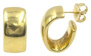 Tiffany & Co. Tiffany & Company 18 Karat Yellow Gold Wide Hoop Earrings