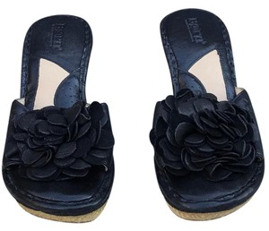 Brn Black Wedges
