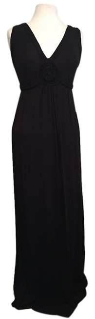 Item - Black Sleeveless Front Design Braided Band And Long Casual Maxi Dress Size 4 (S)