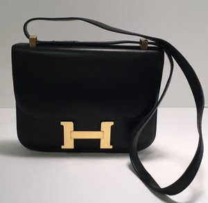Hermès Gold Hardware Leather Vintage Constance Shoulder Bag