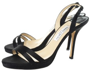 Jimmy Choo Heels Sandals Slingback Sandals Black Formal