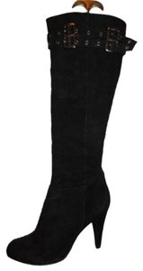 Arturo Chiang Suede Leather black Boots