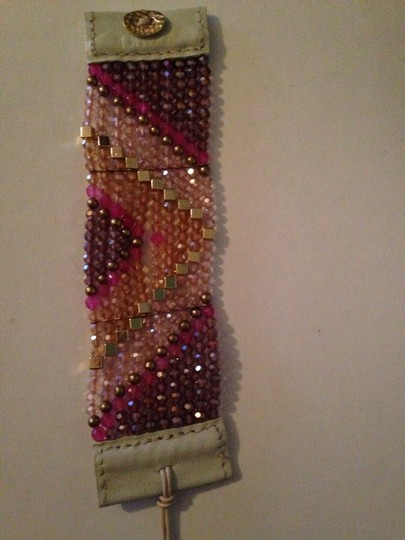 Nakamol Shades Of Pink Czech Crystal Chevron Bracelet