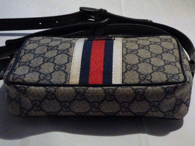 Gucci Purses/Designer Purses Navy Large G Logo Print & Navy Leather with A Wide Red & Navy Stripe Coated Canvas Cross Body Bag Gucci Purses/Designer Purses Navy Large G Logo Print & Navy Leather with A Wide Red & Navy Stripe Coated Canvas Cross Body Bag Image 10