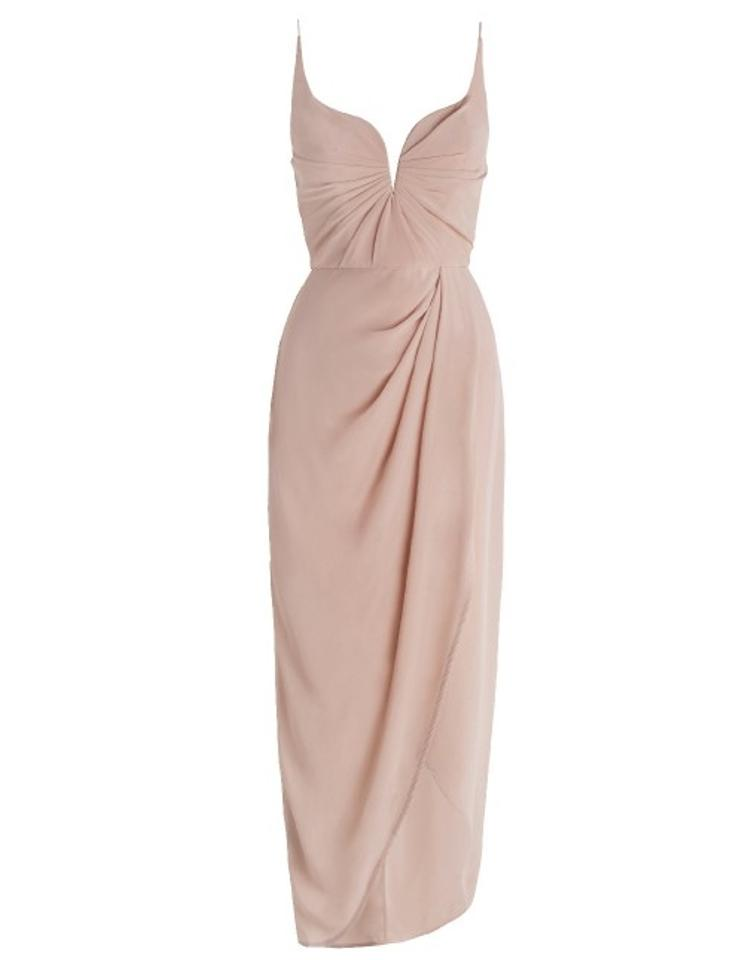 Zimmermann Lily Silk Blush Pink Drape Feminine Bridesmaid Mob Dress Size 4 S