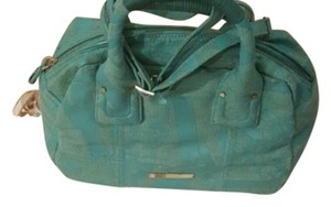Gianfranco Ferre Silvery Teal Travel Bag
