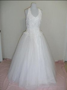 Oleg Cassini Oleg Cassini Halter Wedding Dress (6280) & Petticoat Wedding Dress