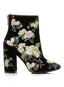 Miss Selfridge Ebroidered Black Boots